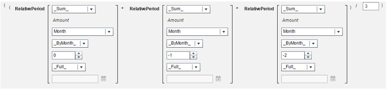 Calculate a moving average using periodic operators in SAS Visual Analytics2
