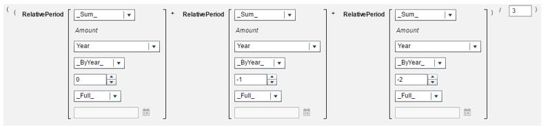 Calculate a moving average using periodic operators in SAS Visual Analytics6