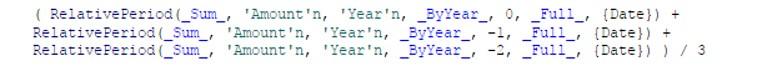 Calculate a moving average using periodic operators in SAS Visual Analytics7