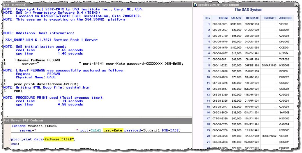 Securing sensitive data using SAS Federation Server at the
