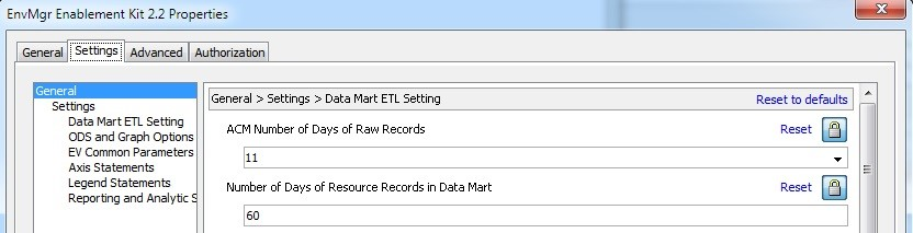 EV Data Mart Tables in 9.4M4