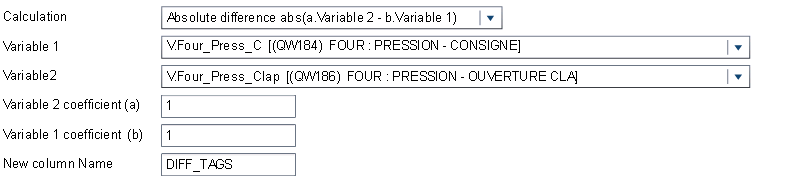 Figure 5: DIFF_TAGS variable creation corresponding to the result of Four_Press_Clap – Four_Press_C