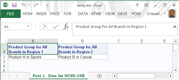 Tips for Using the ODS Excel Destination - SAS Users