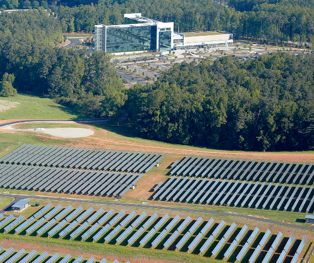 Solar farm on SAS campus