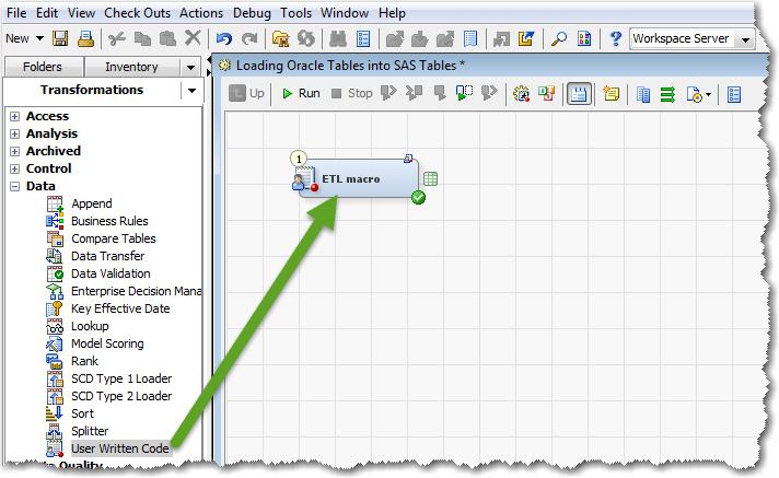 SAS Data Integration Studio Job
