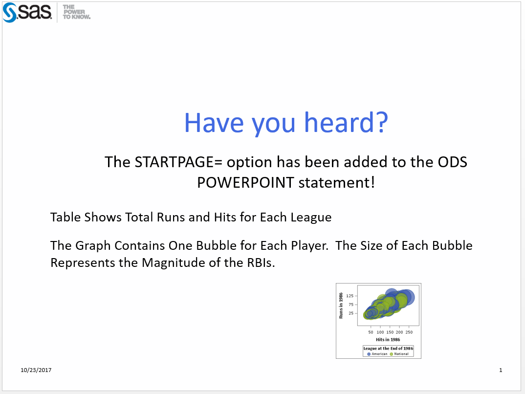 ODS Destination for PowerPoint