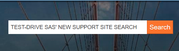 SAS' new Support site search