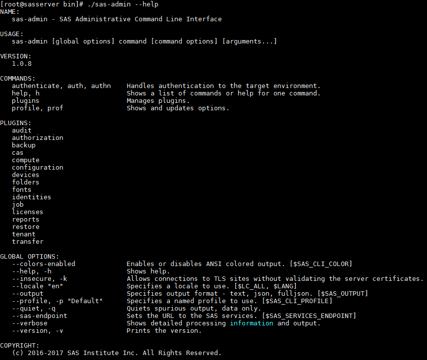SAS Viya command-line interfaces for Administration - SAS Users