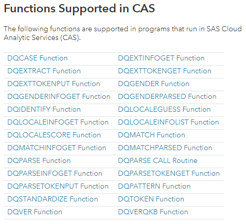 SAS Data Quality 3.3 programming capabilities