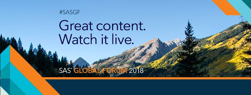 SAS Global Forum 2018 Virtual Event