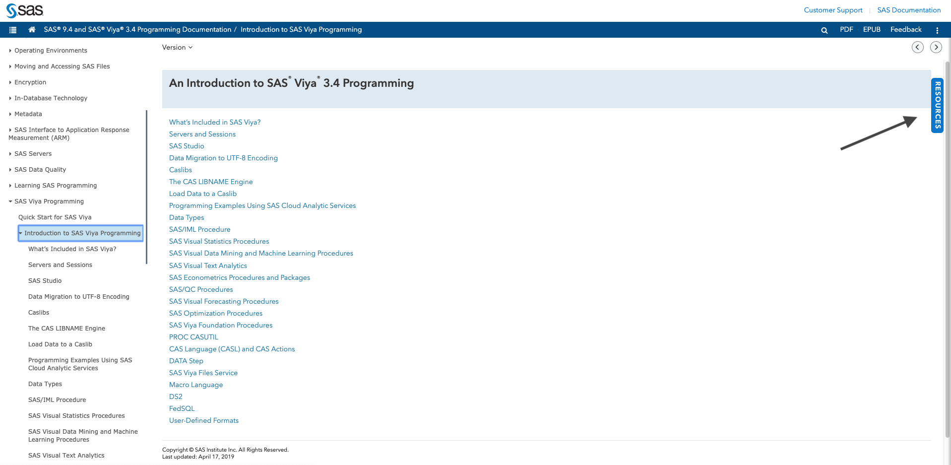 New related resource initiative in the SAS Help Center