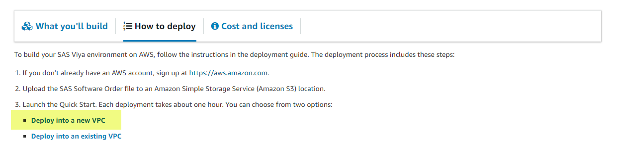Deploy SAS Viya on AWS - Quick Start - SAS Users