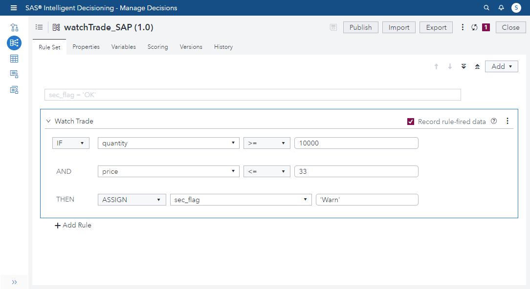 SAS Intelligent Decisioning: Intro and Update