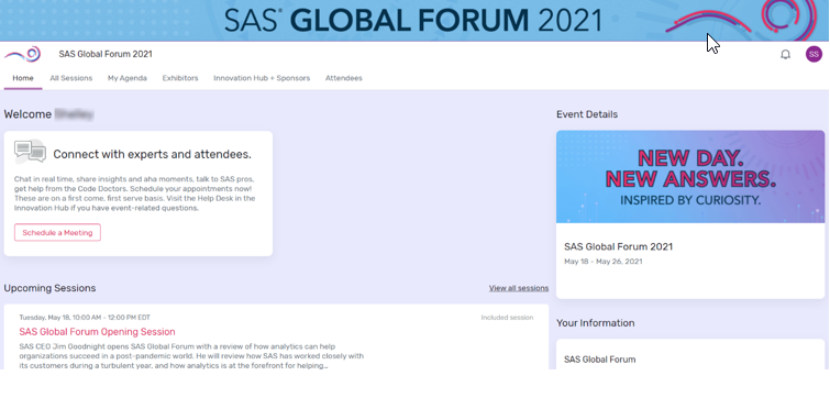 SAS Global Forum: Your experience, your way
