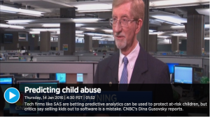 "Screenshot from CNBC piece ""Can life as a data point save America's at-risk children?"