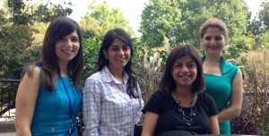 Golbarg Tutunchi (ABD* in Industrial Engineering/Operations Research, NC State University), Fatemeh Sayyady (PhD in Operations Research, NC State University), Zohreh Asgharzadeh (PhD in Operations Research, NC State University), and Shahrzad Azizzadeh (ABD* in Operations Research, NC State University).