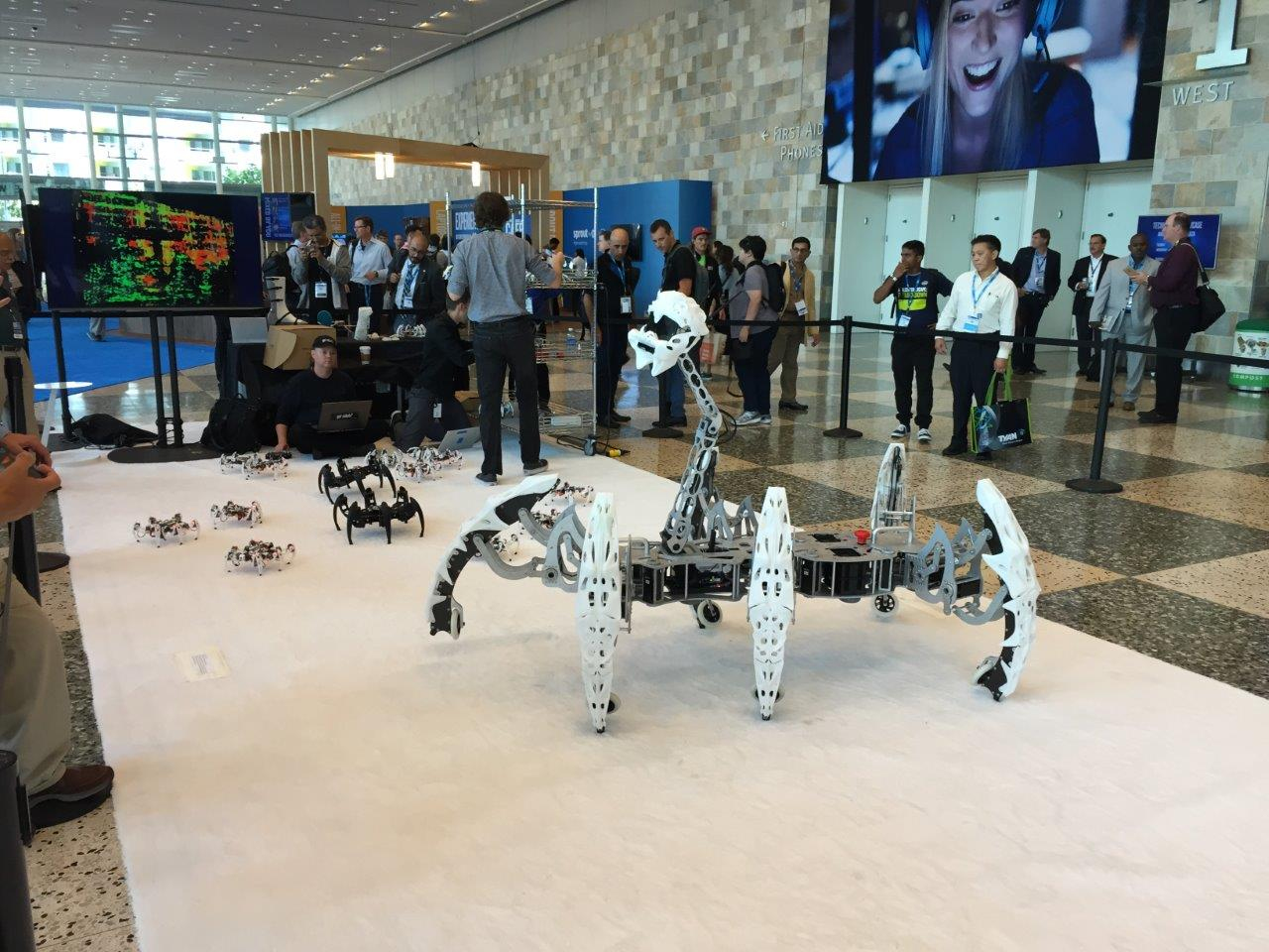 A spider robot at Intel Development Forum
