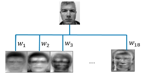 Figure 1: Eigenfaces method for facial recognition