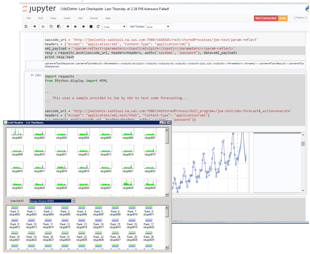 SAS Advanced Analytics running on a Hadoop cluster, invoked from an iPython notebook