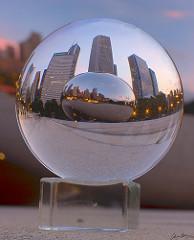 Bean crystal ball small