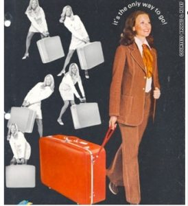 Briggs and Riley rolling suitcase ad2