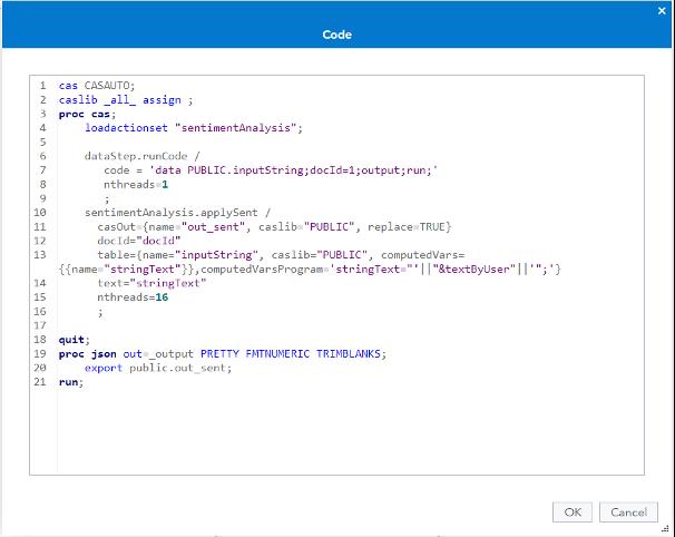 SAS Code Data Provider Node