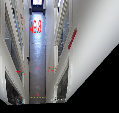 Figure 6(b): Top down view of hallway